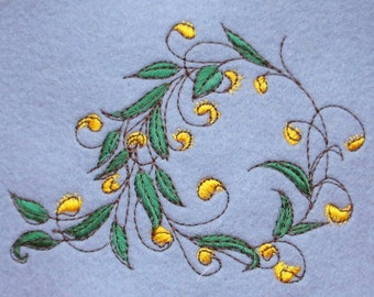 Sotis embroidery file: plant wreath for the frame size 13 x 18