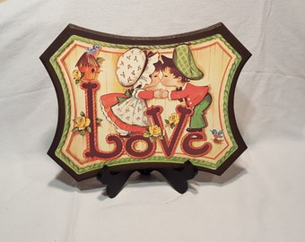 1970s Love Wall Hanging