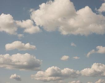 Cloud Photography, Nature Fine Art Photograph, Home Decor, Blue Sky Wall Decor