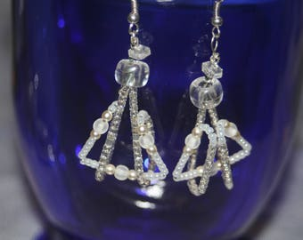 Silver Earrings Perfect for Weddings and formal events