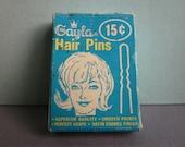 Vintage Gayla Hair Pins 1960s in original box