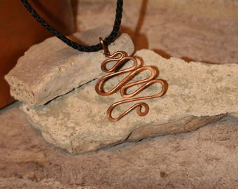 Copper squiggle necklace