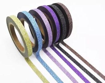 Glitter Washi Tape Set (6pcs)