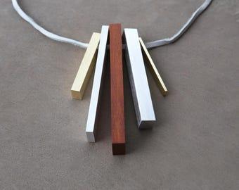 Collier minimaliste déclaration collier élémentaire série III
