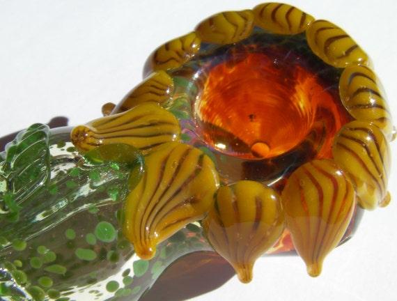 Glass Pipe  Sunflower