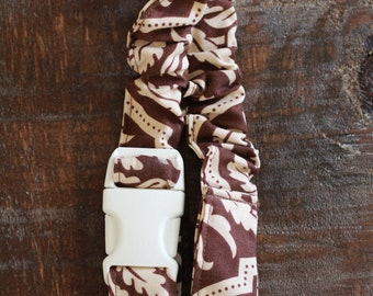 Toss-Me-Not Sippy Cup Holder, Handmade, Brown & Tan - Brand New