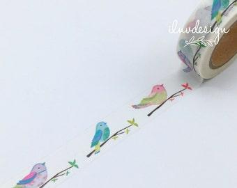 Birds On Tree Branch Washi Tape • Birds Decorative Tape • Birds Tape • Craft Supply • Scrapbooking • Card Making • Paper Crafts