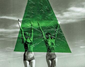 Alien Abduction Collage Print