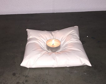 Candle holder pillow