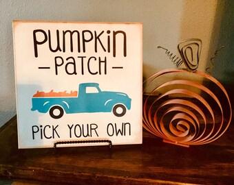 Pumpkin Patch Handpainted Sign
