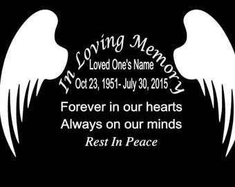 In Loving Memory Car Decal