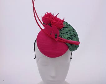 Hot Pink and Emerald Green Percher