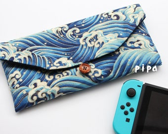 Nintendo Switch Cover /Carrying Case/Protective Sleeve/Pouch/NS/Dark  Blue Wave