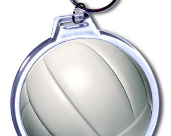 Personalized Volleyball Keychain -  2 Size Choices