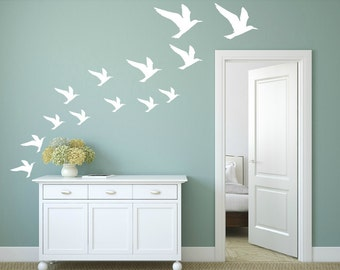 FREE SHIPPING Wall Decal Seagulls Color White. Differnt Size. 37 Wall Decal. Nursery Wall Decal. Vinyl Decal. Children Decal. Home Decor.