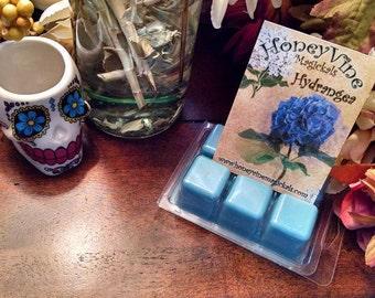 Hydrangea Flowers Spring Tarts Soy Wax Clamshell