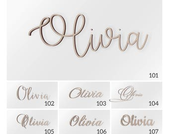Personalized Name for Above Crib, Wooden Name Sign, Nursery Decor Wood, Nursery Letters, Connected Letters, Personalized Gifts, Baby shower