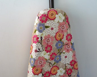 Ironing Board Cover - pretty pastel flowers on fawn background