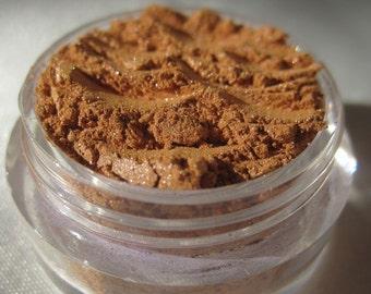 Orange Mustard Brown Mineral Eyeshadow   Cruelty-Free   Shimmer   Loose Pigments   Vegan Mineral Makeup Eye Shadow -Over The Top