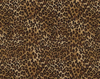Leopardprint leopard wild Timeless Treasures 0,5 m USA fabric pure cotton