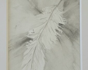 feather painting , black white art, neutral art, ink and watercolor, bono art, feather art, feather