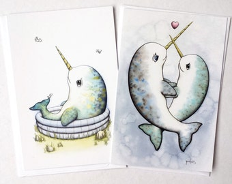 Narwhal Postcards