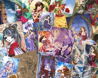 Fairy Art print Grab Bag | fantasy art | ACEO | Art print | Fairy print | fantasy art | illustration | print set