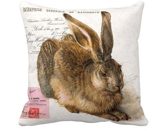 Pillow Cover Bunny Rabbit Woodland Rabbit Easter Pillow