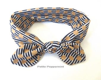 Black Baby headband, infant, toddler, baby girl head wrap, baby headband cotton, baby hair accessory, top knot, knotted bow headband