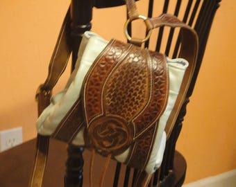 Celtic inspired tooled backpack