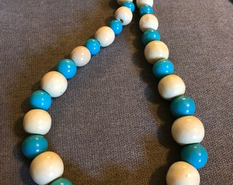 Blue & White Statement Necklace