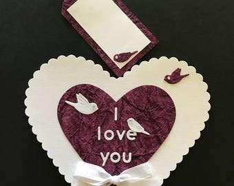 Loveheart magnetic card with message tag