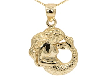 10k Yellow Gold Mermaid Necklace