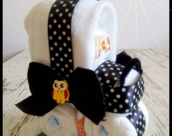 Mini baby carriage out of diapers stroller diaper cake gifts