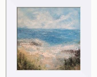 Seascape Print, Coastal Dawn Seascape Picture - Limited Edition Fine Art Print, Original Artwork by Tracey Zorek