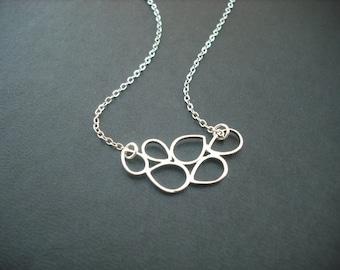 Bridesmaids gift, Wedding Gift, multi teardroop necklace