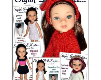 Knitting Patterns, Fits Hearts for Hearts, Doll clothes, 13-14 inch, Instant Download