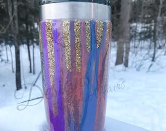 Glitter & Paint Dipped Tumbler
