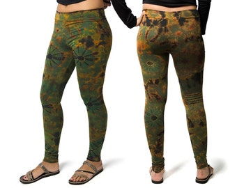 Tie Dye 2.0 Leggings - Olive Multi - 1923N