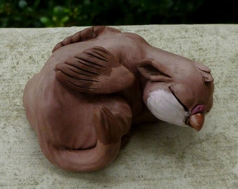 Coot - Sleeping Gryphon Myxie Pal Sculpture