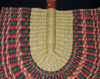 African Straw Fan