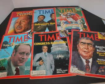 Time Magazine January 1978 December 1979 Lot of 6