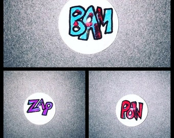 Comic words Magnets