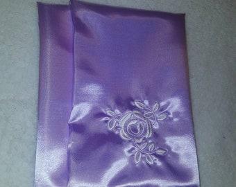 Lilac Satin Pillowcase