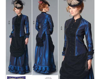 Sewing Pattern-Butterick 6305-Steampunk Blouse and  Skirt-Plus Size 16-24