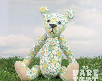 Sale! -Teddybeer artist 'Daisy' OOAK hand vervaardigde - mijn dragen voet beren