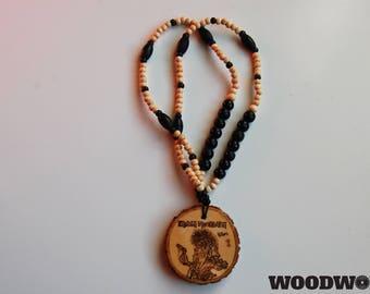 Iron Maiden Wooden Medallion (Hand Burned)