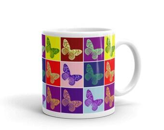 Butterflies Warhol Design Coffee Tea Mug