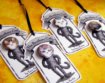 The Brothers Cat -Set of 4 pins on individual tags-
