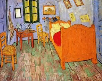 """Van Gogh 16"""" X 20"""" Bedroom in Arles  Vintage Poster Repro FREE S/H in USA"""